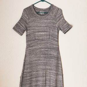 Lou & Grey fitted gray maxi dress